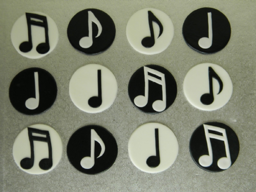 12 Music Note Cupcake Toppers